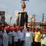 महराजगंज में यूपी० के सीएम का फूका पुतला , नौतनवा में पूर्व सांसद का प्रदर्शन