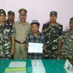 दस लाख के हेरोईन के साथ एक नेपाली कैरियर गिरफ्तार