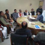 डीएम महराजगंज ने चेयरमैनो के साथ की बैठक,विकास की खीचा खाका