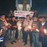 भारत ही नहीं नेपाल मे भी अमर शहीदों को कैडिल जलाकर दी गयी श्रद्धाँजली ।