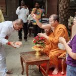 सोनौली: थाई बौद्ध बिहार 960 पर जमकर खेली गयी थाई होली
